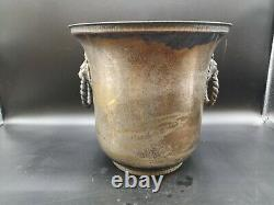 French Champagne Veuve Clicquot Silver Plated Bucket / Cooler With Awl