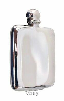 French Christofle Plated Silver Whisky Flask in original Box, model ARIA, new
