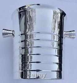 French Christofle Silver Plated Champagne or Wine Ice Bucket Wine Cooler
