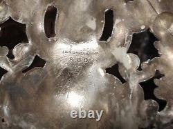 GORGEOUS PAIR Reed Barton Silverplate 5-lite Candelabra Renaissance #800 Candle