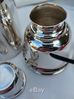 Good Original Famous Barker Bros English Art Deco Silver Plate Cocktail Shaker