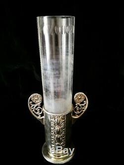 Gorgeous Wmf Art Nouveau, Jugendstil, Secessionist Silver Plated Vase