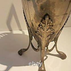 HUGE WMF Art Nouveau ORIGINAL Silver Plated Flower Vases (PAIR)