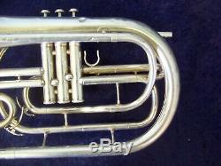 Highestquality Yamaha Yhr302m Silver Marching French Horn + Original Yamaha Case