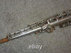 Holton Bb Soprano Sax/Saxophone, Original Silver Plate, Recent Pads Complete
