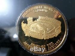 Jacksonville Jaguars NFL Proof 3 Coins Set, 999 Silver, Gold Plate AFC Wild Card