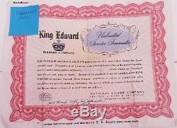King Edward, Cavalcade, Silverware 104 Piece Original Wood Anti Tarnish Case 1946