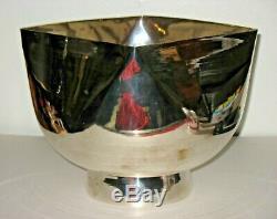 LARGE Vintage 70s 80s Ward Bennett Design Mid Century Modern Silver Plate Bowl