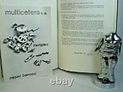MIGUEL BERROCAL Mini Cariatide Nickel Plated Puzzle Sculpture 1968 69