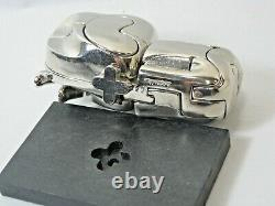 MIGUEL BERROCAL Mini Zoraida Nickle Plated Puzzle Sculpture withBox & Book