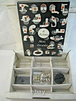 MIGUEL BERROCAL Mini Zoraida Nickle Plated Puzzle Sculpture withBox Book & Stand