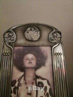 Magnificent Large, Rare Wmf Art Nouveau, Secessionist Silver Plated Photo Frame