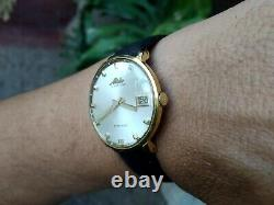 Mido Ocean Star Powerwind Gold Plated Steel All Original Crown Automatic