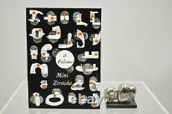 Miguel Berrocal La Mini Zoraida Nickel Plated Puzzle Sculpture Box and Book