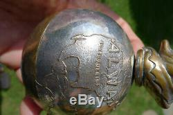Mr PUNCH Always on top of the World Silver Plate Paperweight J R GAUNT, LONDON
