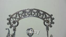 NICE 19th C. CRANBERRY HOBNAIL GLASS PICKLE CASTOR MERIDEN SILVER PLATE STAND