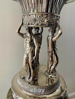 Neoclassical Silver Centerpiece Regency Caryatid Centrepiece Paul Storr Armorial