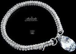 New Original Crystals Bracelet Crystallized Comet Sterling Silver Certificate
