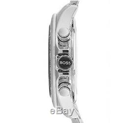 New Original Hugo Boss Mens Ikon Steel Chronograph Watch 1512964 Rrp £375