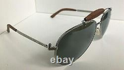 New Ralph Lauren Gold Plated RL 7045-K-Q 9263/40 Metal Leather Sunglasses Italy
