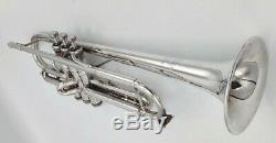 Nice 1994 Silver Plated Bach Stradivarius 72 Professional Trumpet/ Original Case