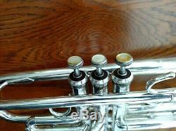 Nice Silver Plated Bach Stradivarius 43 Professional Trumpet w Original Case