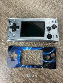 Nintendo Gameboy Micro OXY-001 Silver with Blue Plate With Original Charger