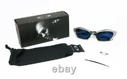 Nos Vintage Sunglasses Oakley Splice Metallic Clear Gray Blue Mirror Scar Plate