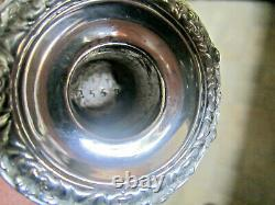 Old Original Georgian Antique High Quality Pair Silver Plate Candlesticks 1820