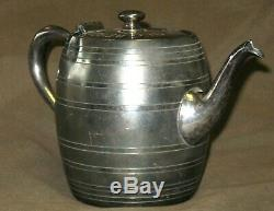 Old Reserve Rye Whisky Silver Plate Pot Jug Edwards Co Pre-Prohibition Merchant