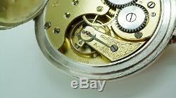 Omega 1915 Solid Silver & Rose Gold Plate Pocket Watch Original 18 LPB Calibre