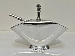 Original 1885-90 Christopher Dresser Silver Plate Sugar Scuttle Walker & Hall