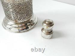 Original Art Deco Antique Silverplate Cocktail Shaker