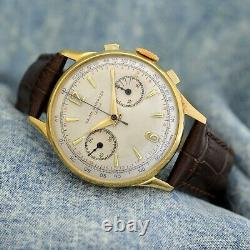 Original Baume Mercier Chronograph Gold Plated Manual Wind Working Gents Watch