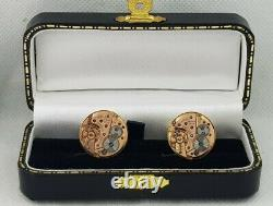 Original Omega Swiss Movements Cal 620 Gold Plated Sterling 925 Silver Cufflinks