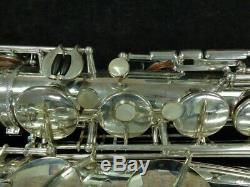 Original Selmer Parks Silver Plate Super Balanced Action Tenor Sax Serial #34907