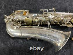 Original Silver Plated Buescher Aristocrat Series Alto Sax Serial # 336952