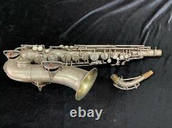 Original Silver Plated Martin TYPEWRITER Alto Saxophone Serial # 98082