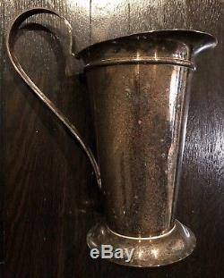 Original Swid Powell Silver Plated Water Pitcher Robert A M Stern Italy 80s Deco