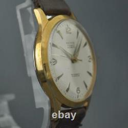 Original Swiss New Old Stock Vintage Watch Nice Dial Gold Plated Manual Wind