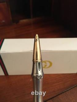 Original Vintage Gucci Bamboo Pen, Hallmarked 925 Silver/Gold Plated-Gucci Italy