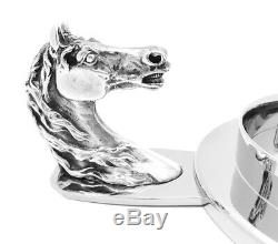 Original Vintage Hermes Paris Pin Tray / Coaster Equestrian Horse Head