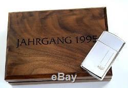 Original Zippo Jahrgangsmodell 1995 Slim Ltd. Edition xxx / 500 Silver Plate Neu