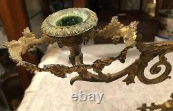 Pair Of 19th Century Ormolu Figural Candelabra On Marble Base