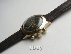 Poljot Chronograph 3133 Gold Plated AU Original Vintage Soviet Mechanical Watch