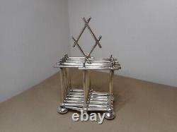 Rare Antique Modernist Expandable Christopher Dresser Toast Rack Silverplated