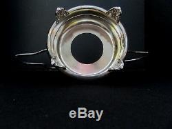 Rare Antique Victorian Art Glass Bride Basket E G Webster Silver Plate Holder
