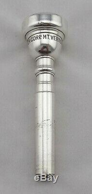 Rare Original Vincent Bach Mt Vernon NY 3 Silver Professional Trumpet Mouthpiece