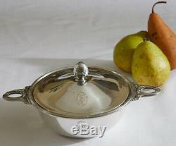 Rare Vintage Christofle Hotel Grande Bretagne, Greece Silver Plate Serving Dish