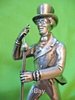 Rare vintage silver plated Johnnie Walker walking man Whisky advertising figure